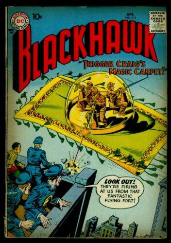 DC Comics BLACKHAWK #111 VG+ 4.5