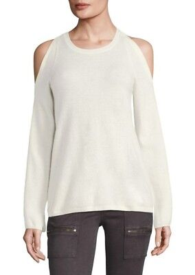 NEW JOIE Amalyn Cold-Shoulder Sweater in Ivory - Size XS