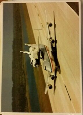 CAPE CANAVERAL FL NASA SPACE SHUTTLE COLUMBIA ON MODIFIED 747 JET AIRCRAFT