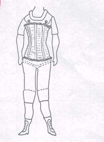 "18""ANTIQUE CHINA HEAD/PARIAN FRENCH FASHION LADY DOLL CLOTH BODY CORSET PATTERN"