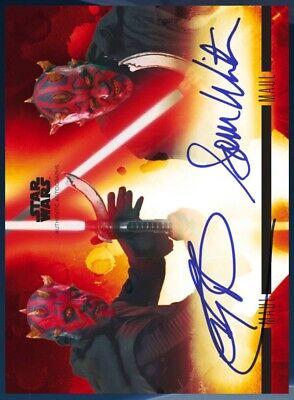Topps Star Wars Card Trader Stellar Signatures Epic Darth Maul Dual Signature