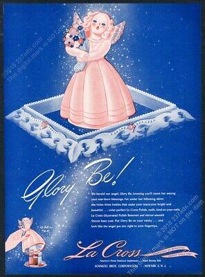 1943 Glory Be angel art La Cross nail polish vintage print ad