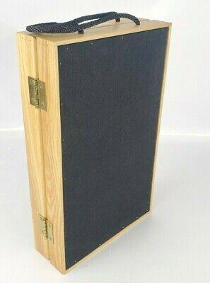 Showcases To Go Oak Colored Wood Jewelry Display Case Folding Box 14x9x3