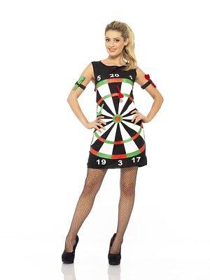 Dartkostüm Damen Dartkleid Dart Pfeil Kleid 3-teilig The - Pfeile Kostüm