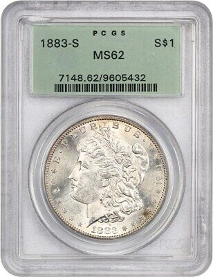 1883-S $1 PCGS MS62 (OGH) - Old Green Label Holder - Morgan Silver Dollar