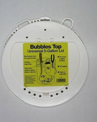 Bubbles Top 5-Gallon Lid, Fits Most 5 Gal. Buckets, Hinged Lid, Tool Holder - 5 Gallon Hat