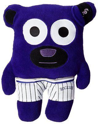 (MLB Colorado Rockies Bear In Underwear Purple Plush Stuffed Toy   )