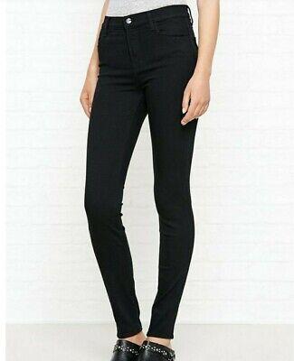 J Brand Maria  Brand New High Rise Skinny Leg Jeans Size 27 - Black RRP £200