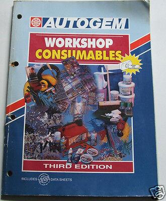 Autogem -Parts Catalogue-Workshop Consumables-3rd edition 1997-NOW VERY SCARCE!!