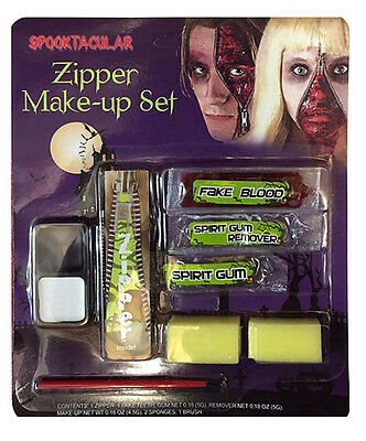 HalloweenFancy Dress Vampire Fangs Zipper FX Make-up Kit Scary Face  Paint (Girl Halloween Vampire Makeup)