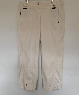 JAMIE SADOCK Golf Crop Ankle Pants AUS 12 US 6-Zipper Pockets Cream Beige