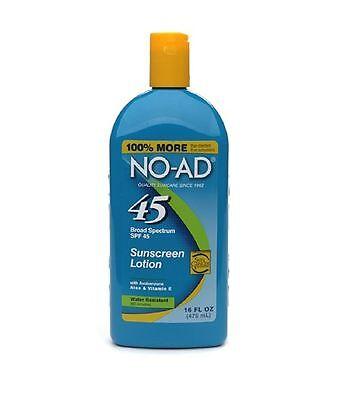 NO-AD Sunblock Lotion SPF 45 -- 16 fl oz