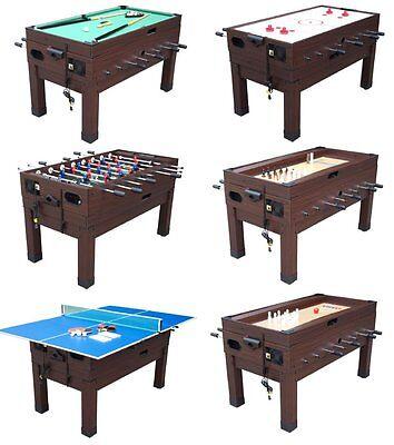 13 in 1 GAME TABLE in BLACK ~ FOOSBALL, POOL, AIR HOCKEY, SH