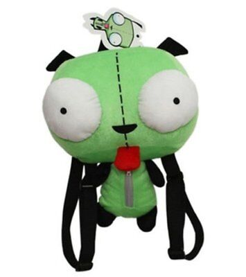 Used, Alien Invader Zim Gir Adorable Green Plush Backpack Pack School Bag 14 inch for sale  Shipping to Canada