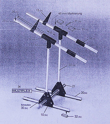 Schwerpunktwaage Multiplex - 693054 - für alle Flugmodelle bis ca. 10 kg
