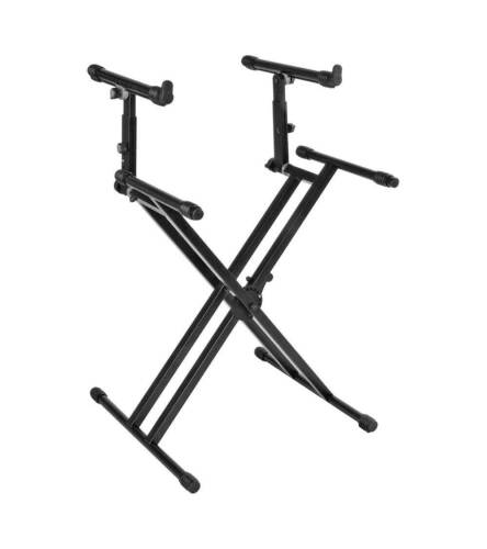 Quik Lok QL-742 Pro Series Double Tier Keyboard Stand 200lb Capacity