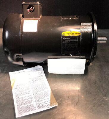New Baldor Electric Super-e 3-phase Ac Motor 5 Hp 208-230460v 3500 Rpm