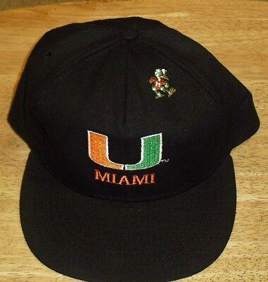 - Miami Hurricanes hat snapback RaRE MINT DS cap canes The U rare top logo
