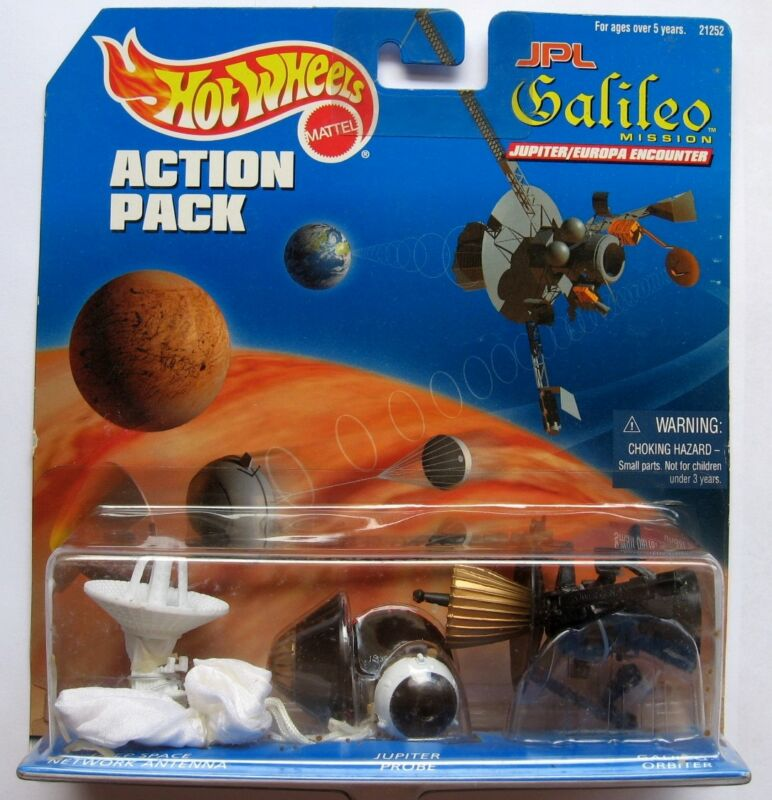 Hot Wheels Galileo Jupiter Mission Action Pack JPL Orbiter Probe Deep Space Dish
