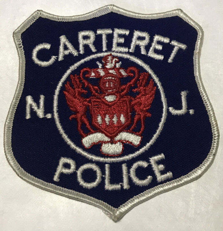 Carteret Police (New Jersey) 1st Issue Shoulder Patch-excellent Condition