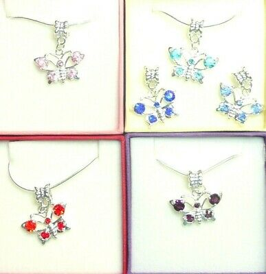 Butterfly Necklace Boxed Gift Bridesmaid Flower Girl Birthday Christmas Gift ()