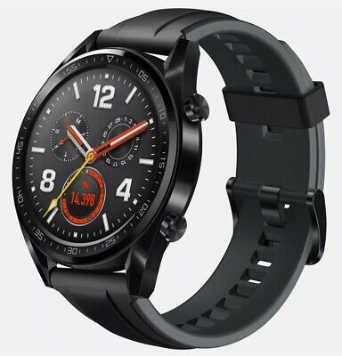 Huawei Watch GT 46mm Cinturino Nero Orologio GPS NUOVO Garanzia fino 21/05/2022