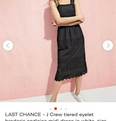 J crew Black Broderie Anglaise cotton sundress size 12. Used