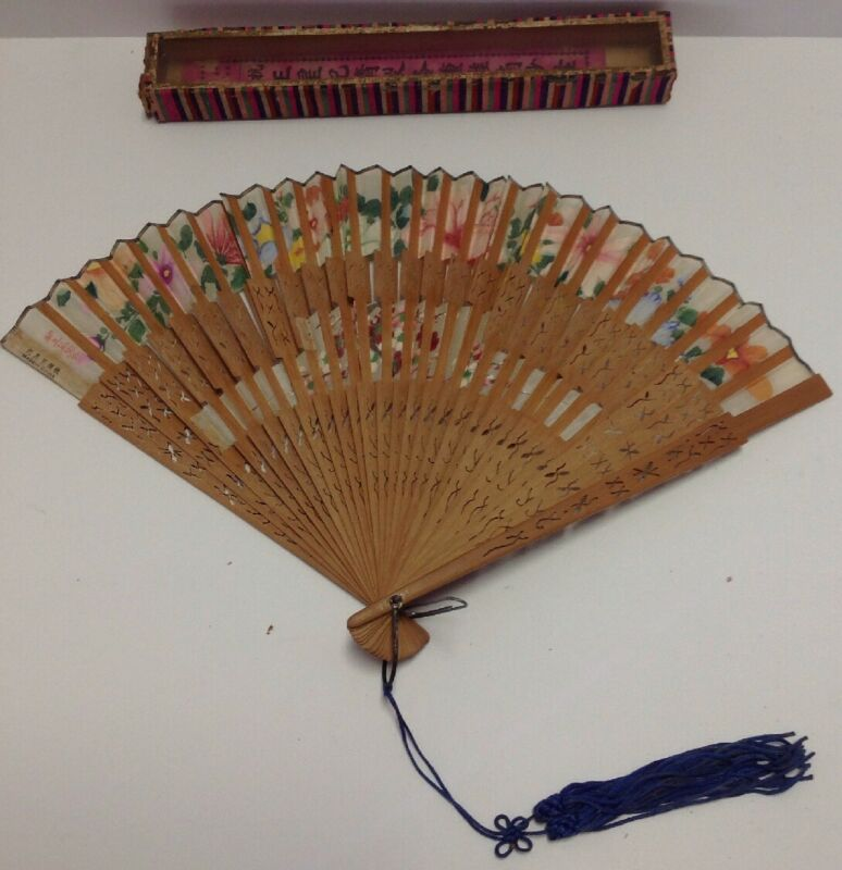 Antique Wang Sin Kee Shop Shanghai China FAN hand painted#3 See Details