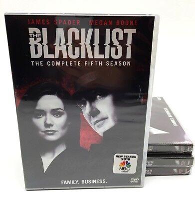 The Blacklist Complete Fifth Season 5  (DVD, 2018, 5-Disc Set), NEW!