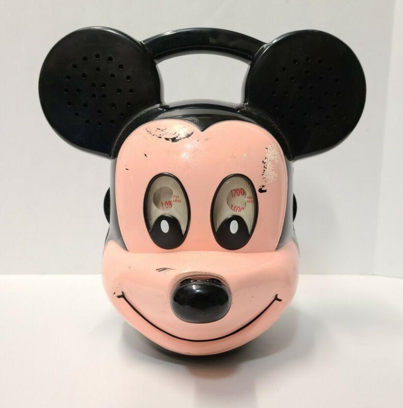 Vintage Disney Mickey Mouse Head AM FM Radio DAPY Model D021 Untested