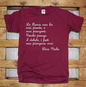 T-Shirt-girocollo-manica-corta-Supporters-J396-La-Roma-non-ha-mai-pianto