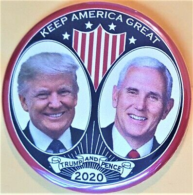 Donald Trump Mike Pence Campaign Button President 2020 Keep America Great