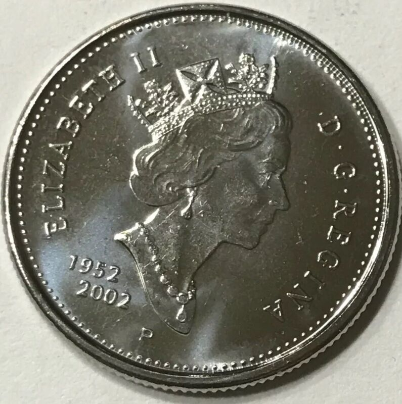 Canada 2002 P 25 cent Nice UNC from roll - BU Canadian Caribou Quarter