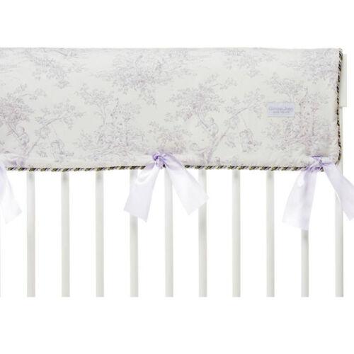 Glenna Jean Penelope Crib Rail Protector, Lavender/Mint/White, Long
