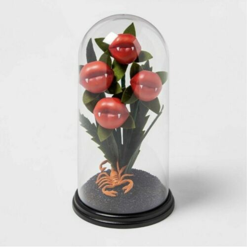 Target Hyde And Eek Halloween Ghoulish Garden Kiss Of Death Cloche Plant 2021
