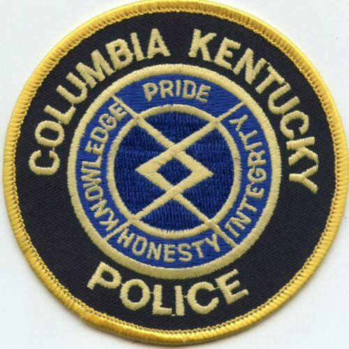 COLUMBIA KENTUCKY KY POLICE PATCH