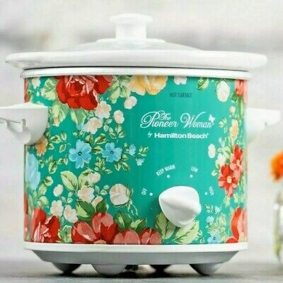 The Pioneer Woman 1.5 Quart Kitchen Slow Cooker Vintage Floral NEW
