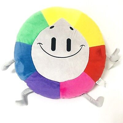 Trivia Crack Willy Plush Toy Pillow rainbow colors NEW NWT Round Happy mad face