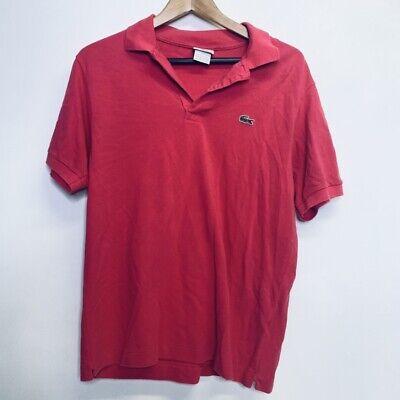 Men's Lacoste Size 5 Light Purple Pink Fuchsia Short Sleeve Polo Shirt Rare