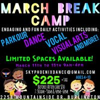 March Break Camp - Ages 4-13