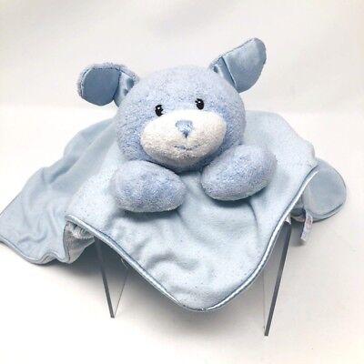 gund baby lovey security blanket blue dog bunny dot tie dots polka dots