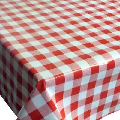 Wachstuch Tischdecke Kariert Rot Größe wählbar abwaschbar Wachtuchtischdecke (Rot Karierten Tischtuch)