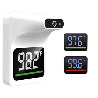 Wall Mounted Infrared Forehead Thermometer No Contact Temperature Safe White