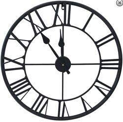 Wall Clock 24D BLACK METAL CLOCK