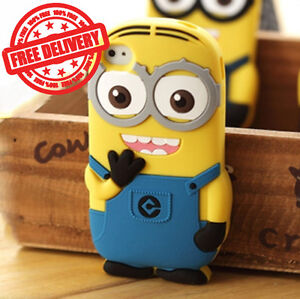 Despicable Me Minion Soft Silicone Gel Case Cover for Apple iPhone 4 4s New