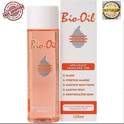 Bio-Oil for Scars Stretch Marks Uneven Skin Tone with PurCellin Oil 4.2 oz/125ml
