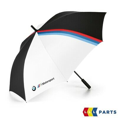 NEW GENUINE BMW M MOTORSPORT UMBRELLA BLACK AND WHITE 130CM 80232461135