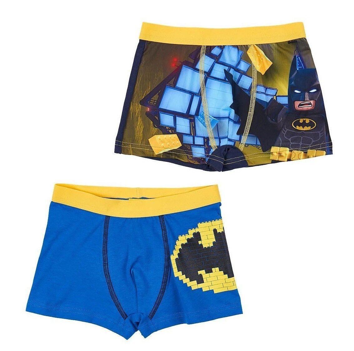 Neu Unterwäsche 2 Stück Jungen Lego Batman Boxershorts 104 110 116 128 140 #250