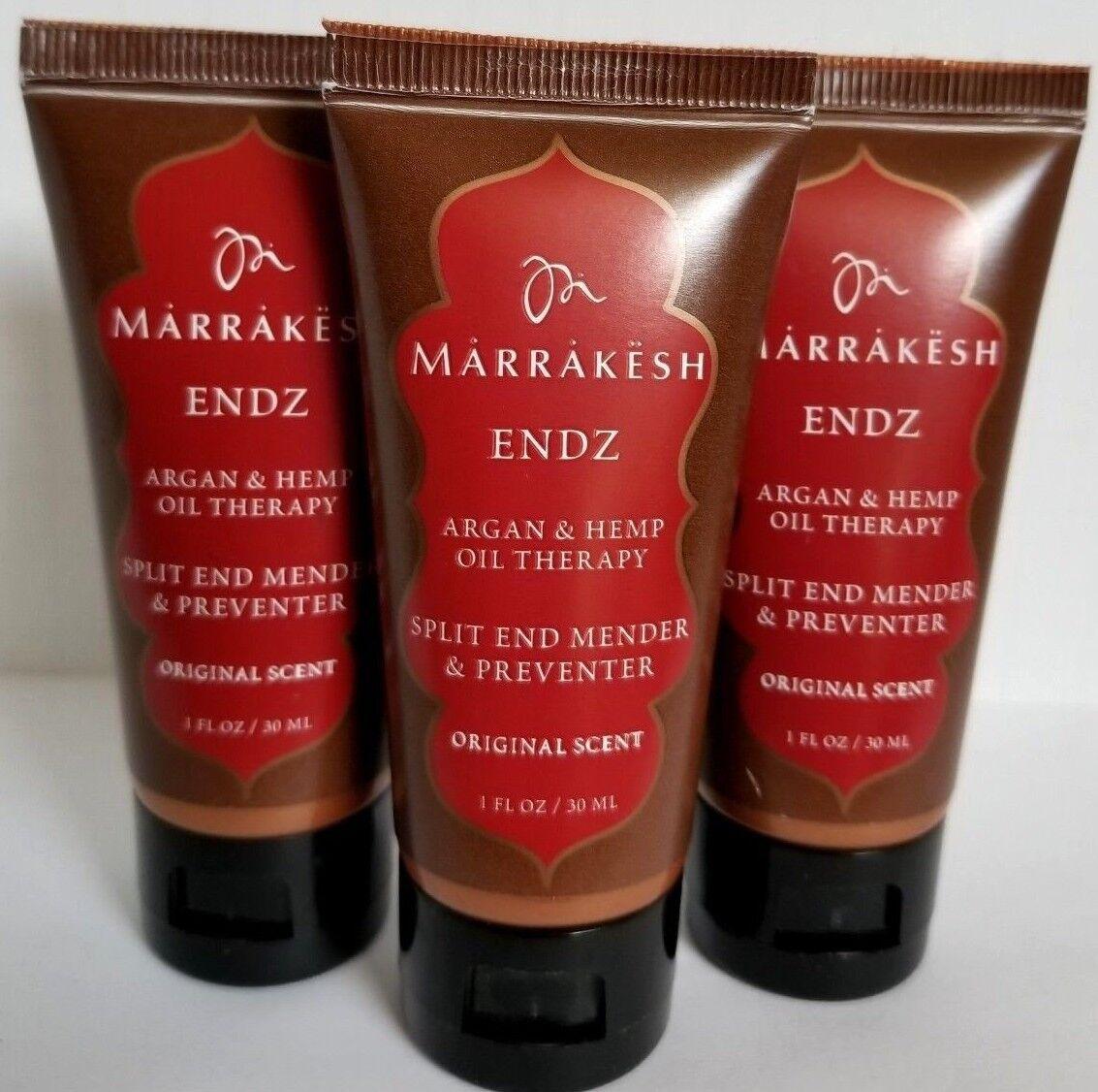 3 pcs MARRAKESH ENDZ Split End Mender Argan & Hemp Seed Oil