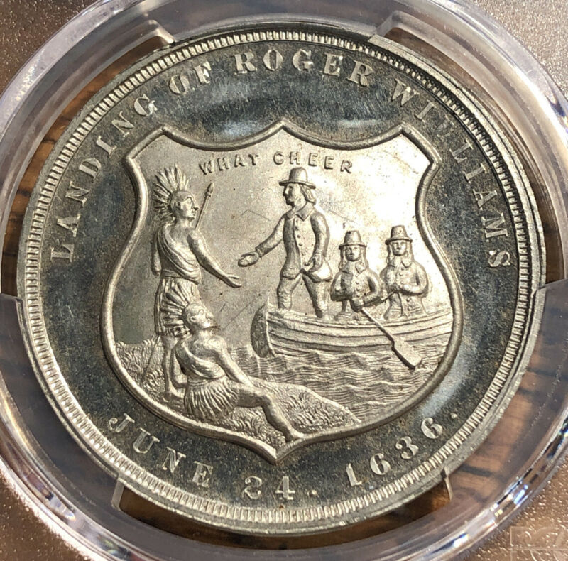 1886 So Called Dollar HK-606 White Medal Providence PCGS MS 64 150th Anniversary